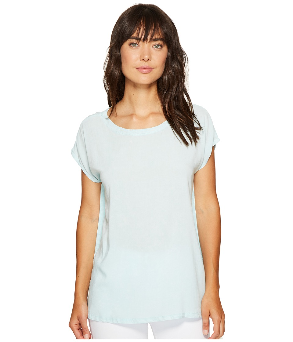 Allen Allen - Square Top Blouse (Aquamarine) Women's Blouse