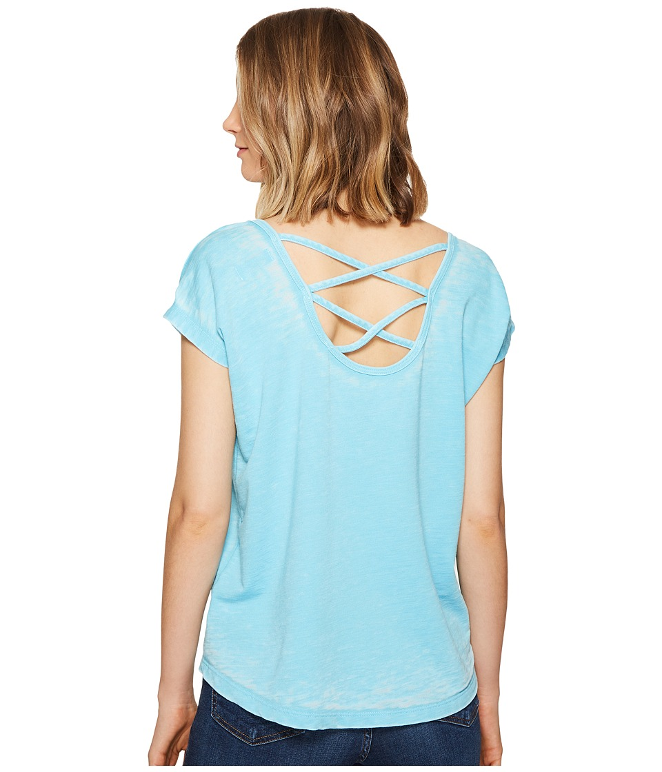 Allen Allen - Double Cross Back Tee (Beach) Women's T Shirt