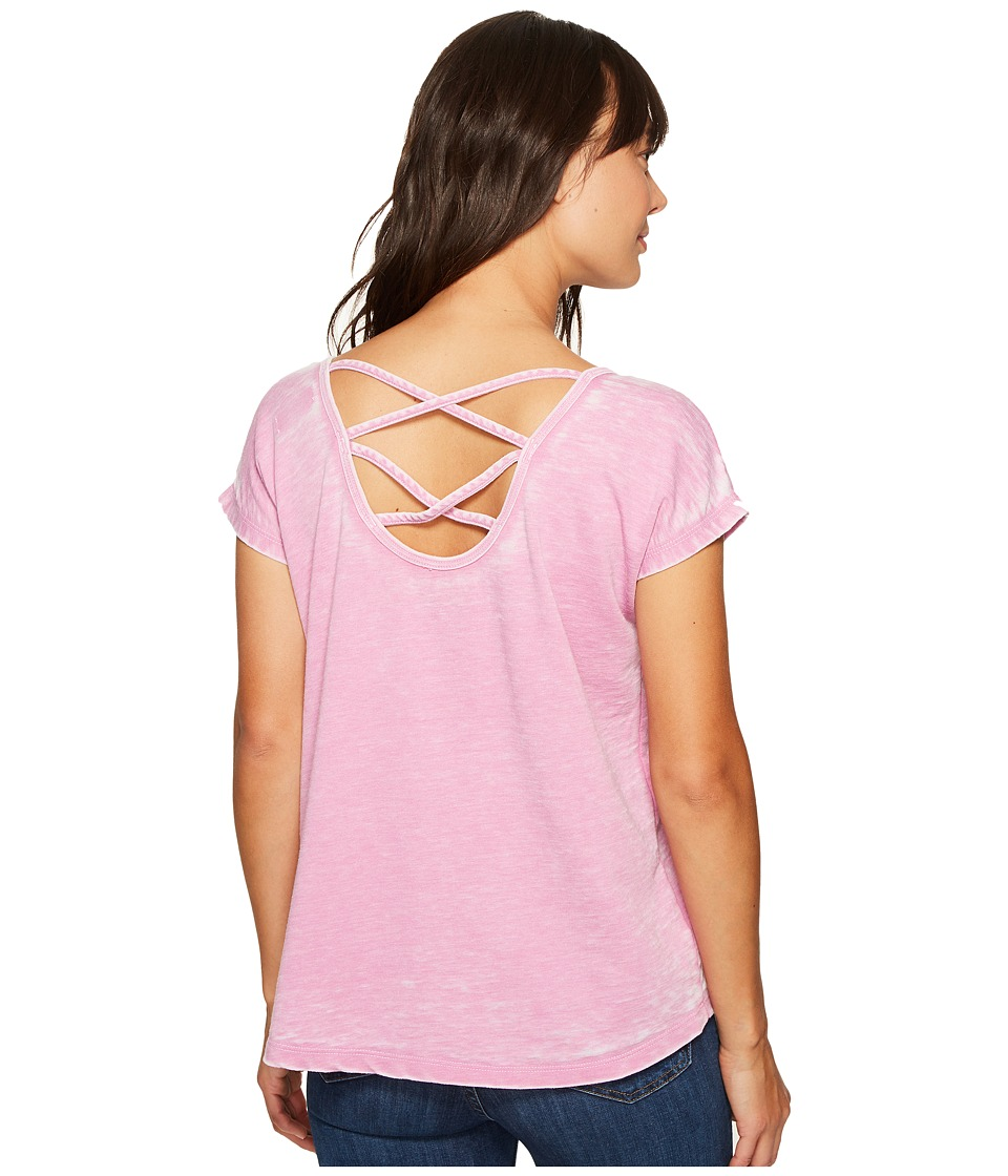 Allen Allen - Double Cross Back Tee (Posey) Women's T Shirt