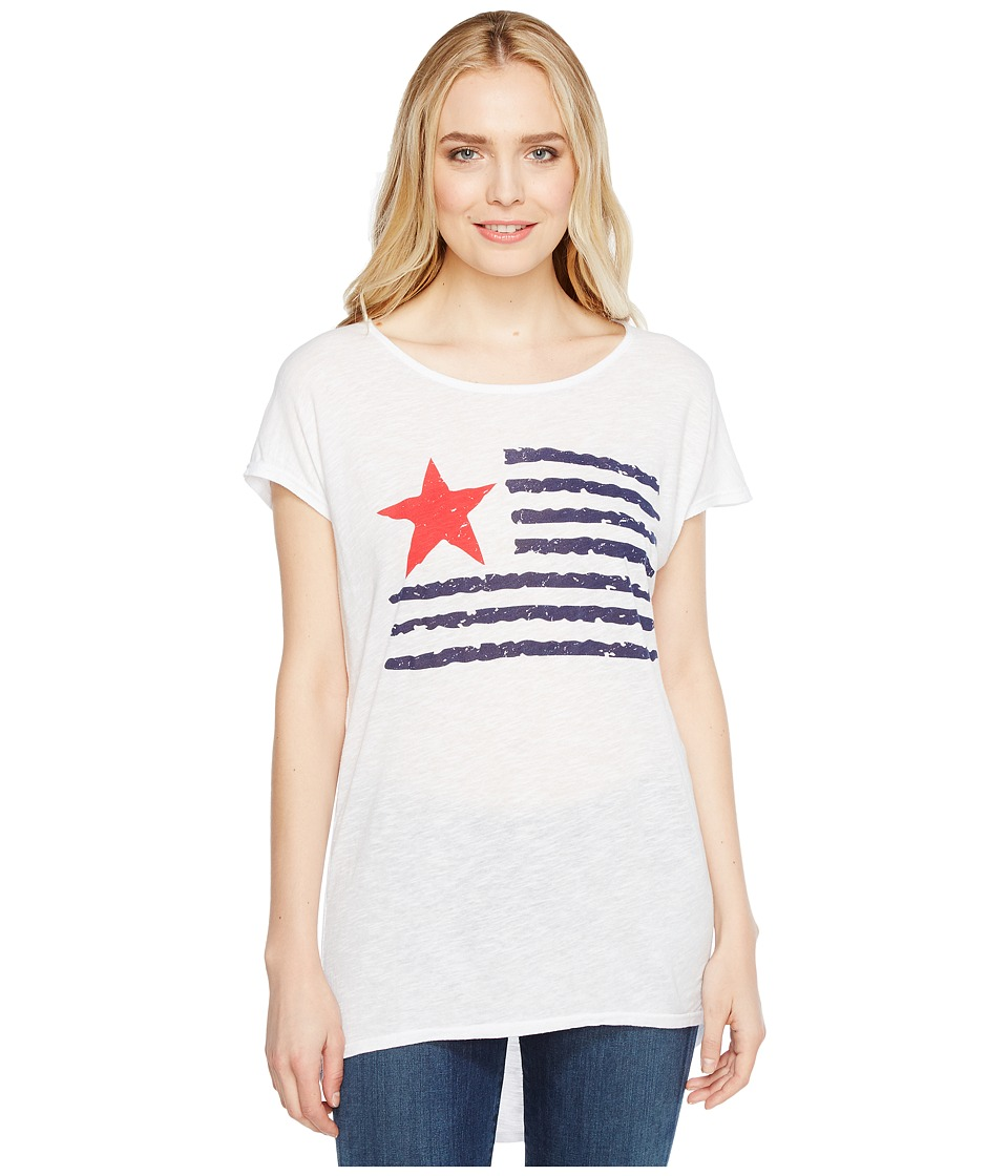 Allen Allen - Star Flag Tee (White) Women's T Shirt