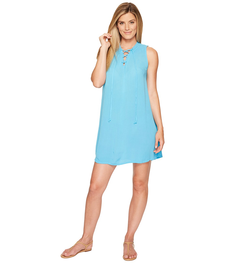 Allen Allen Tie Front Tank Dress (Beach) Women