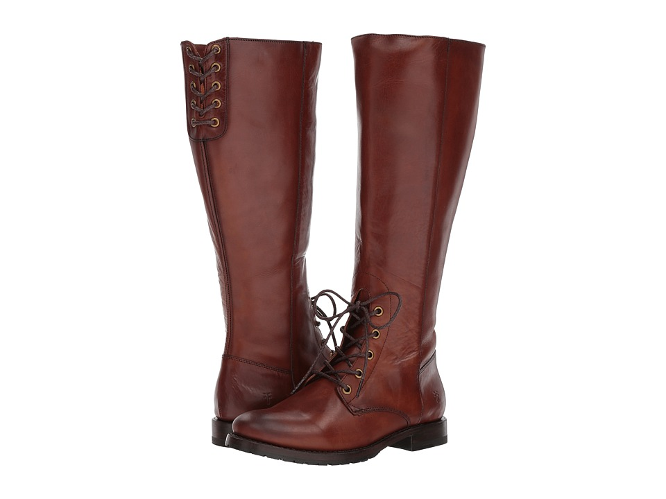 Frye Natalie Combat Tall (Redwood Smooth Oiled Veg) Women