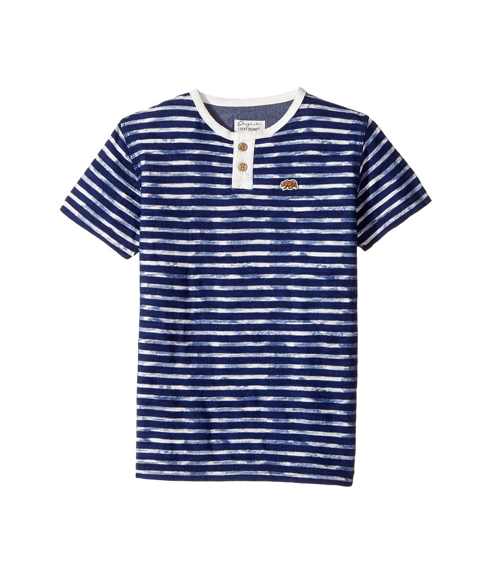 Lucky Brand Kids - Rip Curl Henley Top (Little Kids/Big Kids) (Limoges) Boy's Long Sleeve Pullover