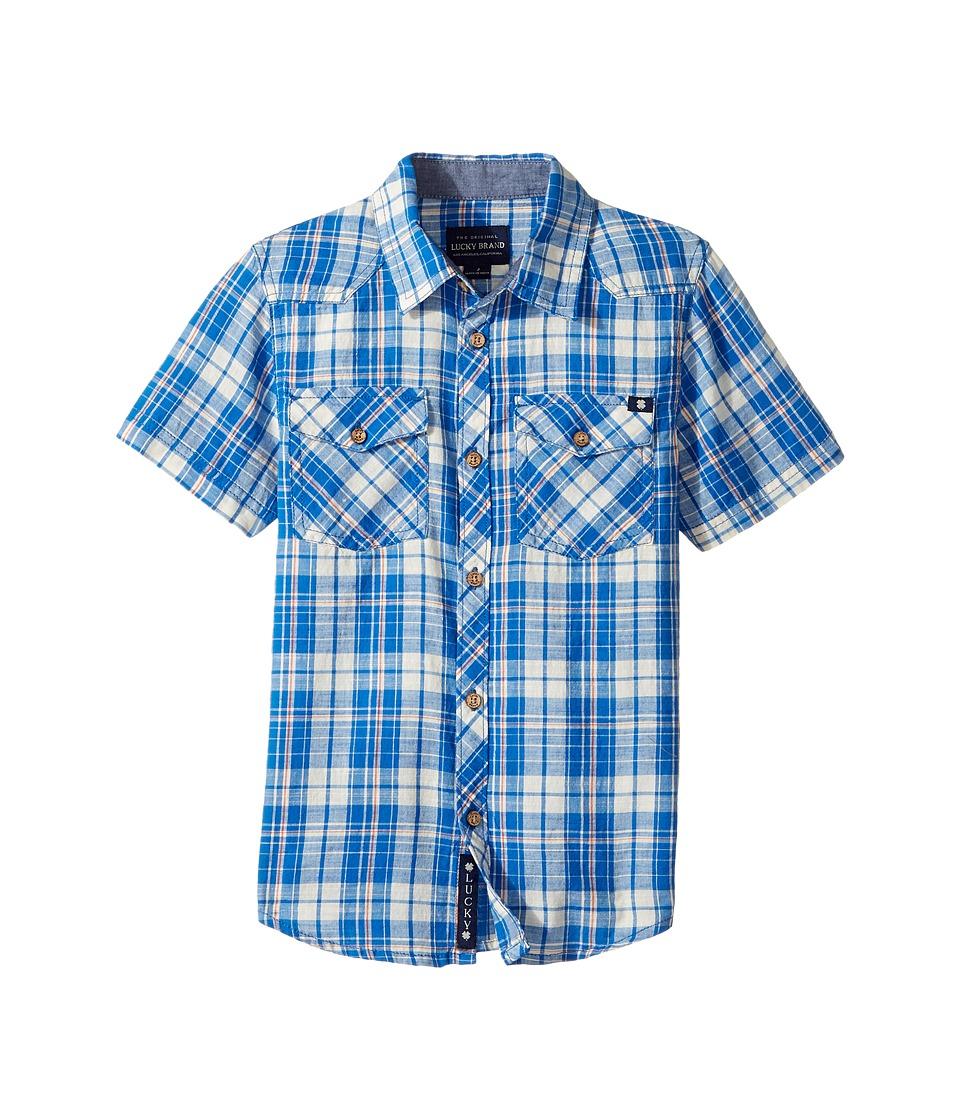 Lucky Brand Kids - Catalyst Woven Top (Little Kids/Big Kids) (Campanula) Boy's Long Sleeve Pullover
