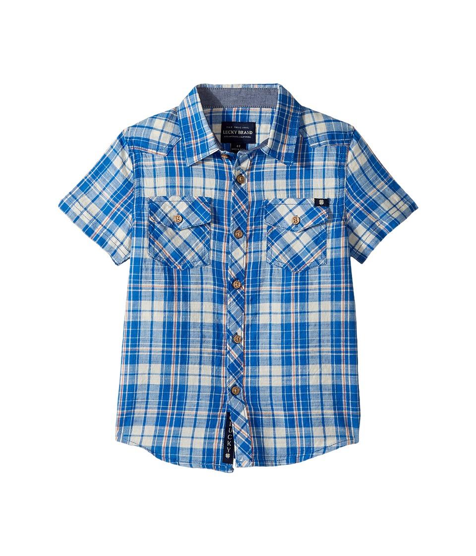 Lucky Brand Kids - Catalyst Woven Top (Toddler) (Campanula) Boy's Long Sleeve Pullover