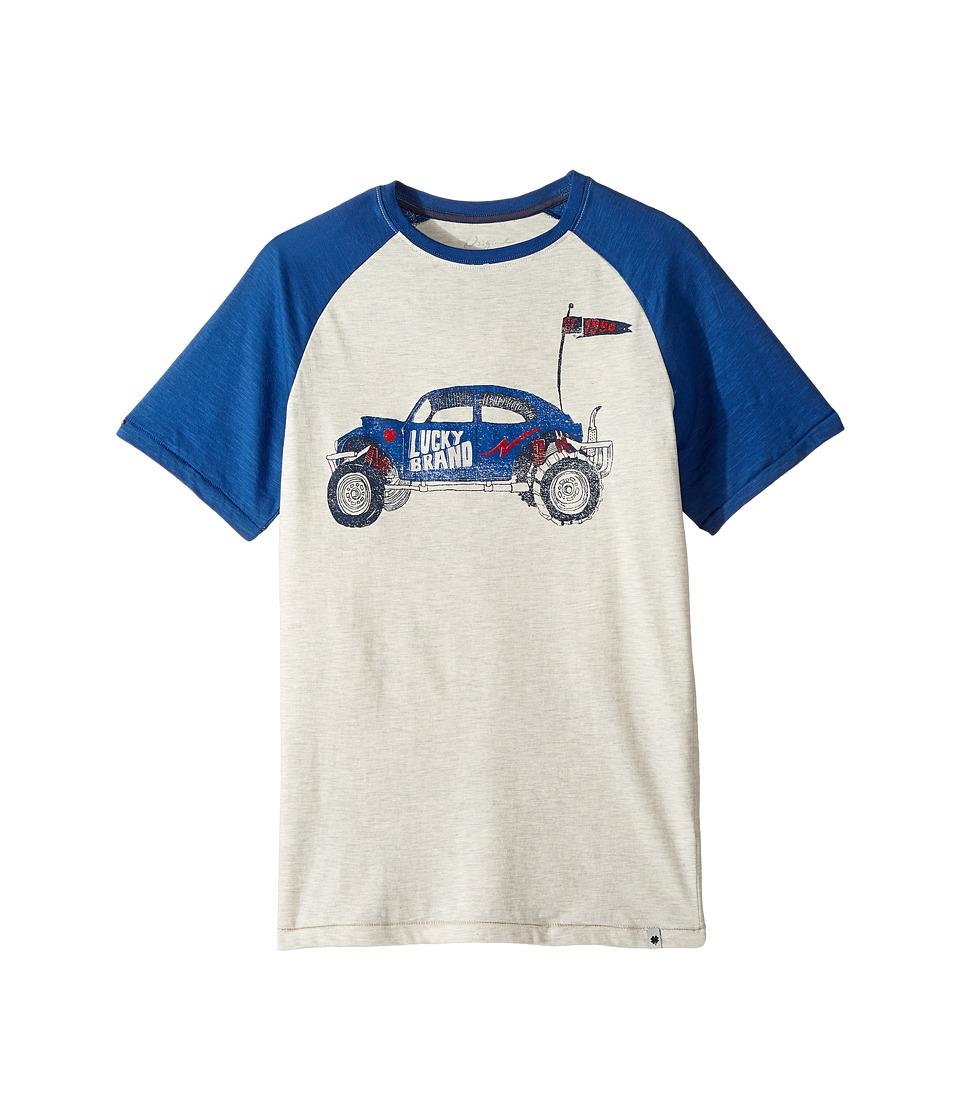 Lucky Brand Kids - Roadster Tee (Big Kids) (Papyrus Heather) Boy's T Shirt