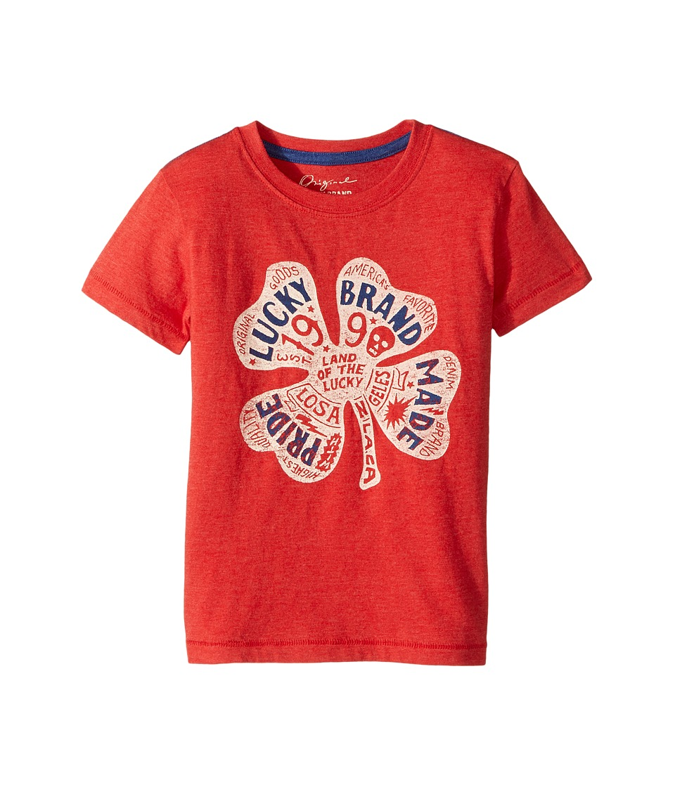 Lucky Brand Kids - Lucky Pride Tee (Little Kids/Big Kids) (Red Pepper) Boy's T Shirt