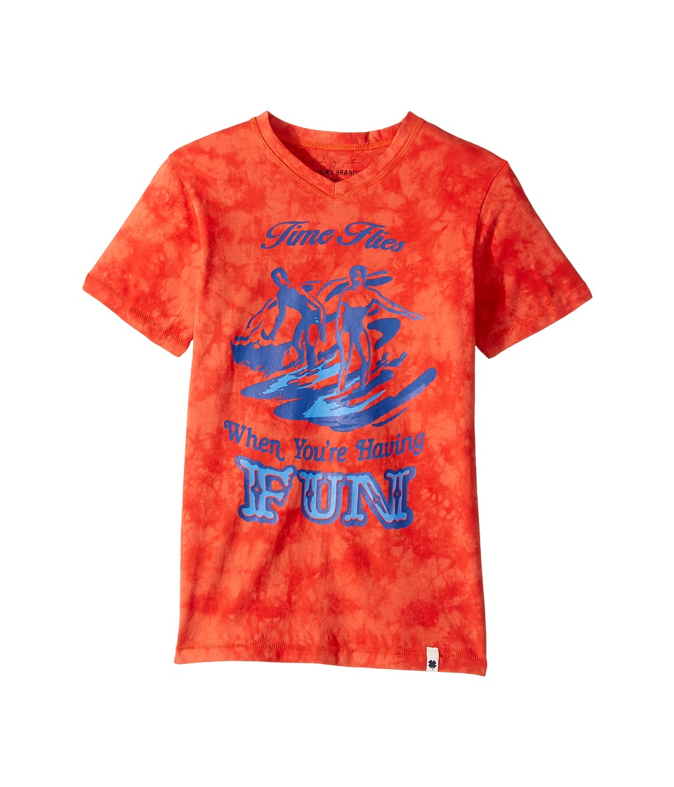 Lucky Brand Kids - Time Flies Tee (Big Kids) (Fiesta) Boy's T Shirt