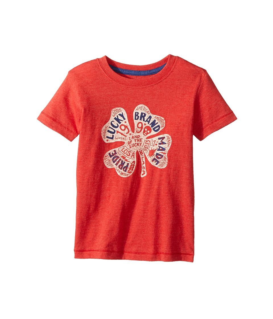 Lucky Brand Kids - Lucky Pride Tee (Toddler) (Red Pepper) Boy's T Shirt