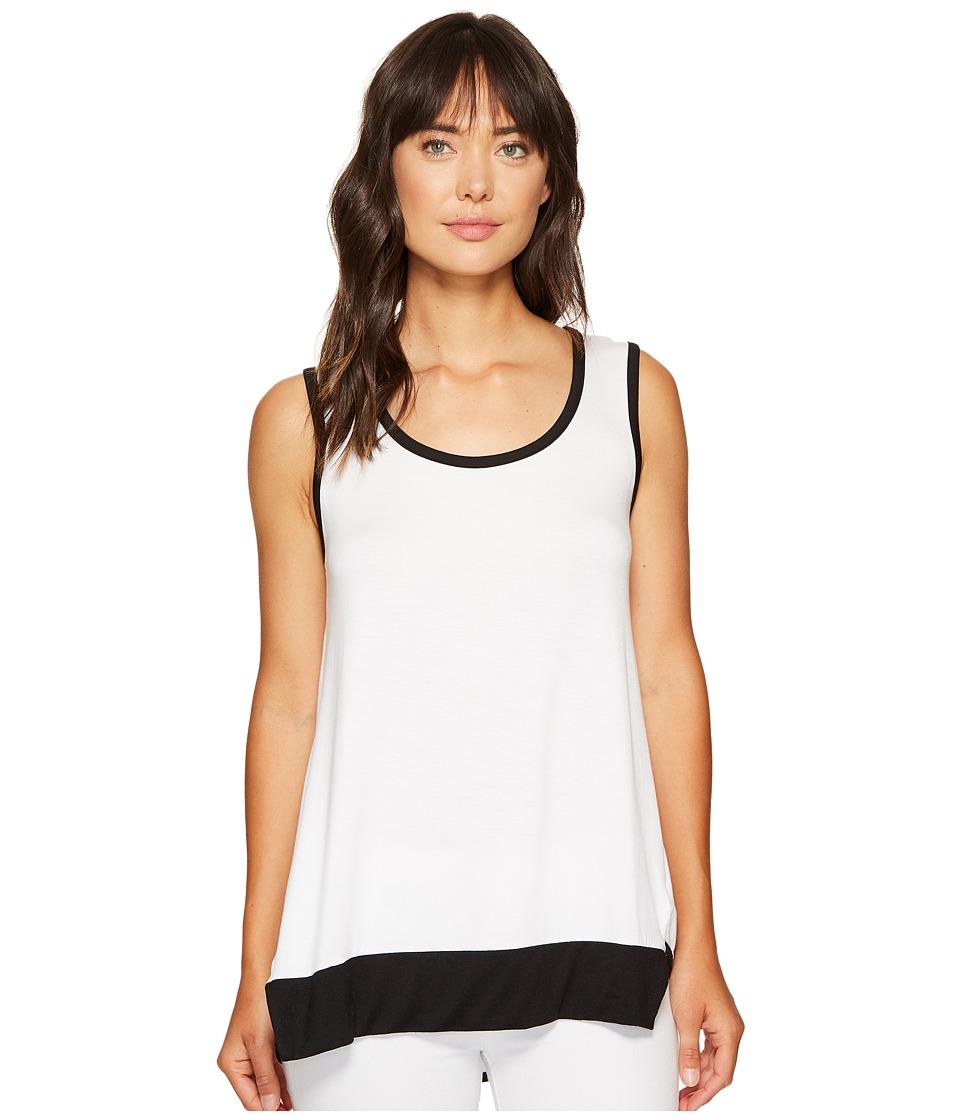 Nally & Millie - Color Block Tank Top (White/Black) Women's Sleeveless