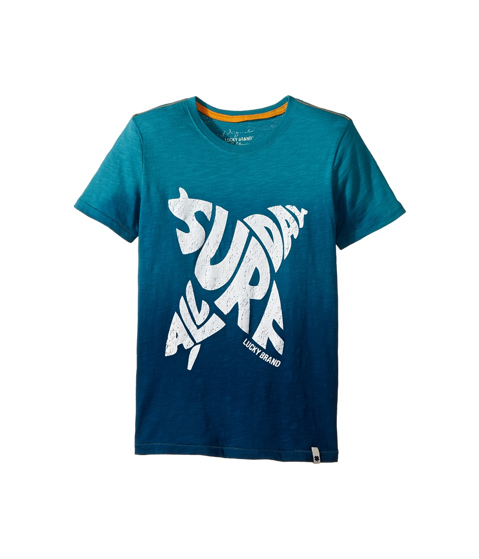 Lucky Brand Kids - All Day Surf Tee (Big Kids) (Parka Blue) Boy's T Shirt