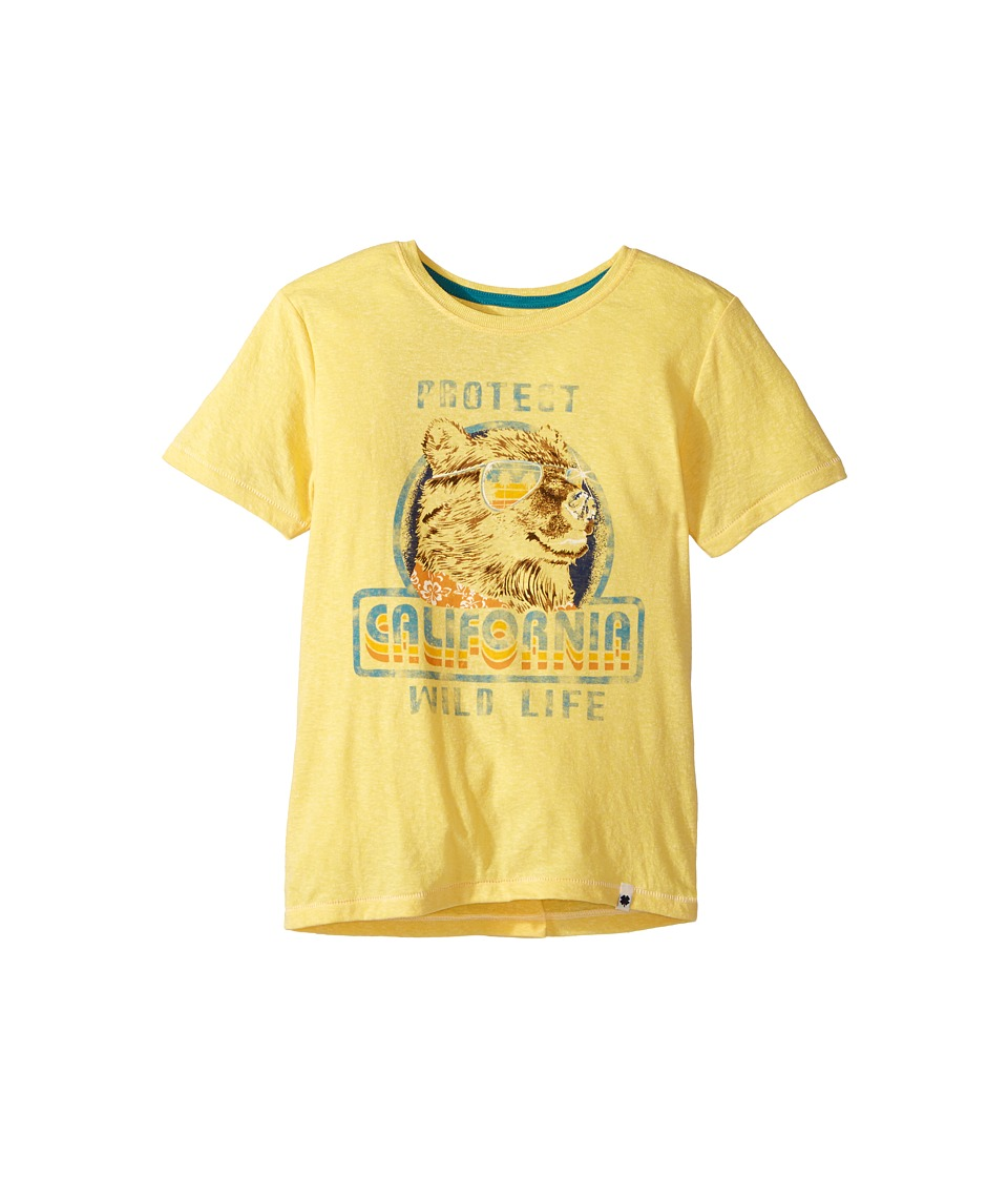Lucky Brand Kids - Wild Life Tee (Big Kids) (Banana) Boy's T Shirt
