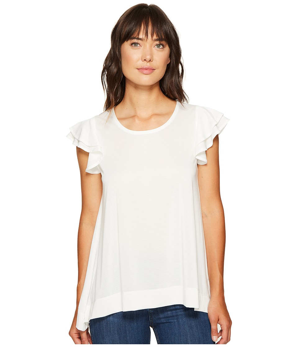Nally & Millie - Ruffle Sleeve Top (Cream) Women's Blouse