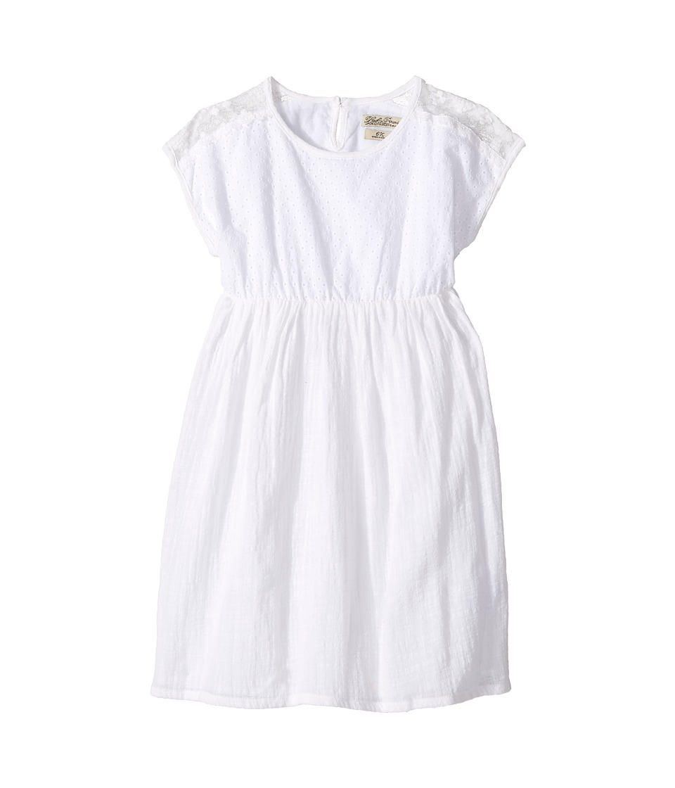 Lucky Brand Kids - Eyelet Dress w/ Mesh (Little Kids) (Bright White) Girl's Dress