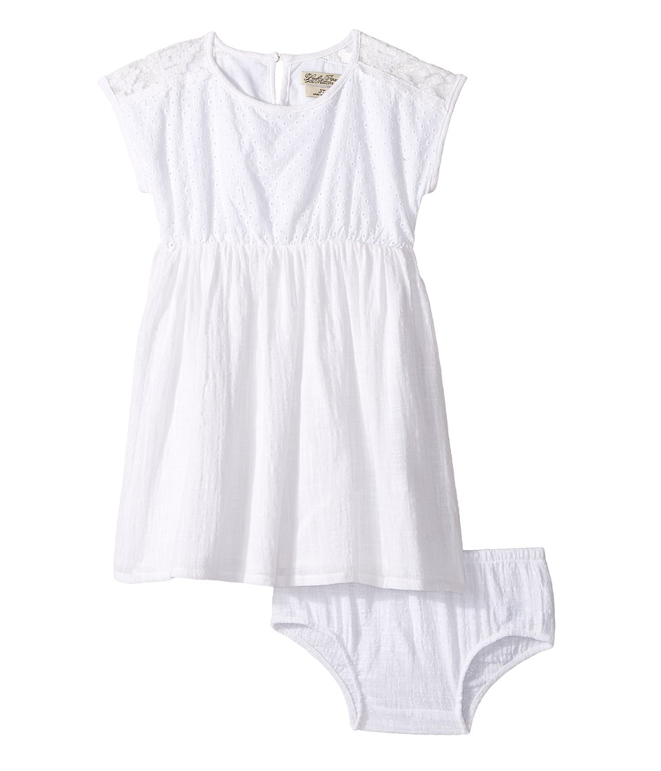 Lucky Brand Kids - Eyelet Dress w/ Mesh (Toddler) (Bright White) Girl's Dress