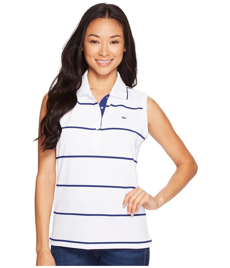Vineyard Vines Golf - Necker Island Sleeveless Polo (White Cap) Women's Clothing