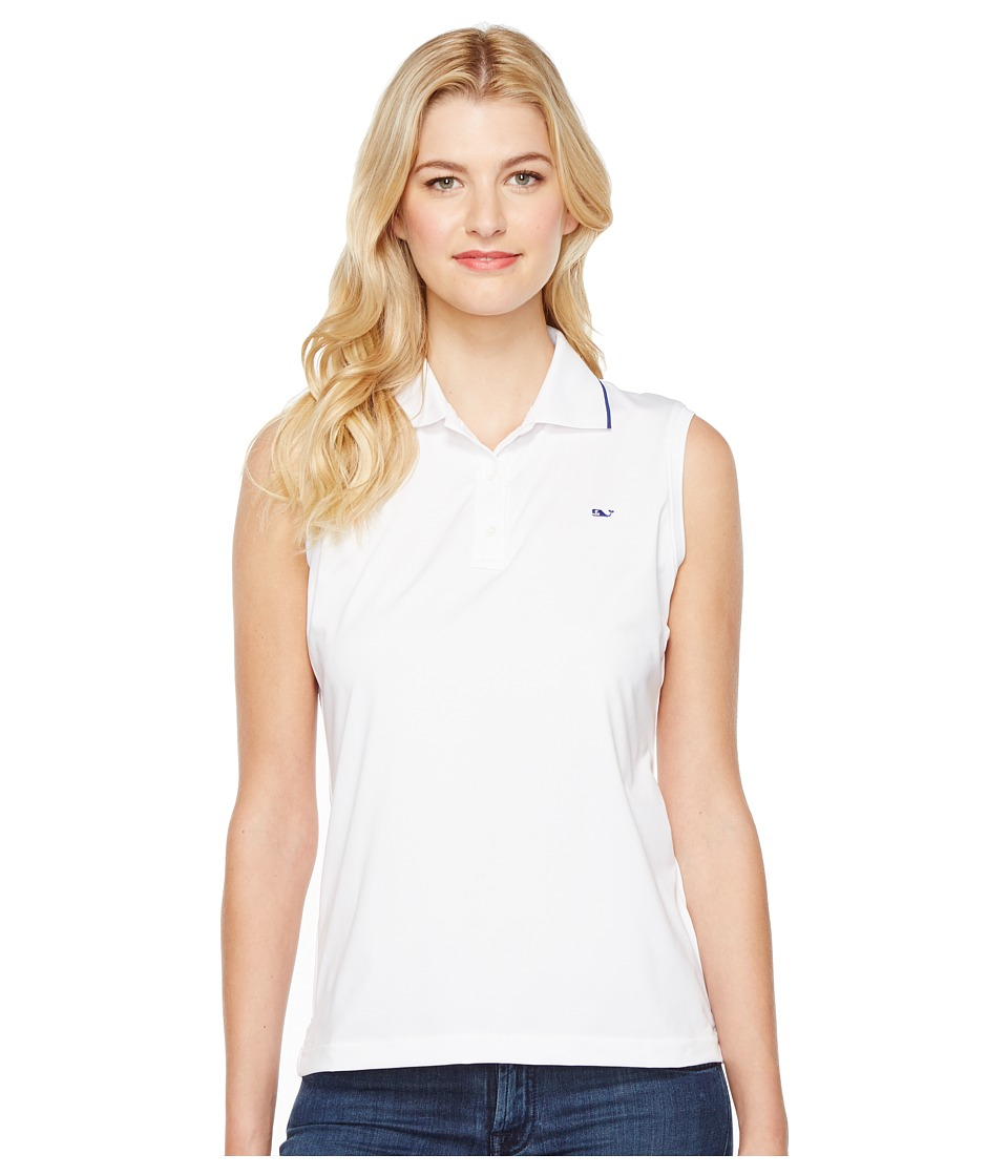 Vineyard Vines Golf - Renee Sleeveless Polo (White Cap) Women's Clothing