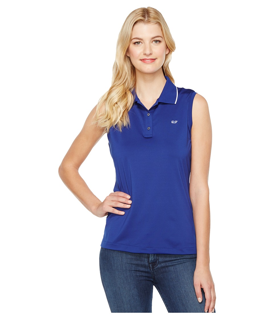 Vineyard Vines Golf - Renee Sleeveless Polo (Royal Ocean) Women's Clothing
