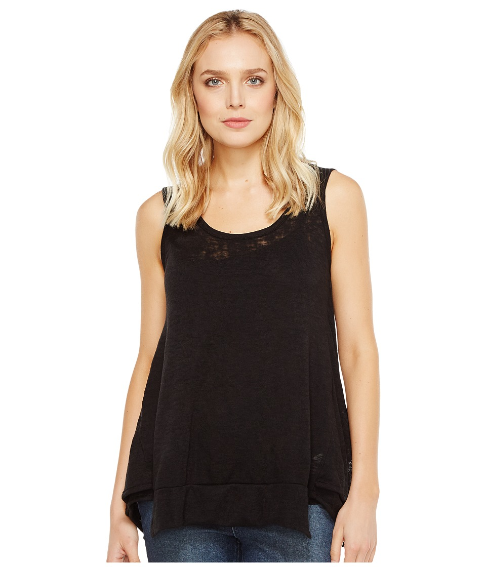 Nally & Millie - Panel Seam Tunic (Black) Women's Blouse
