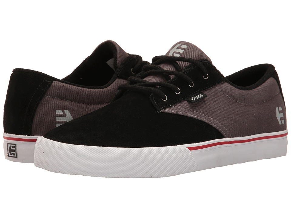 etnies - Jameson Vulc (Black/Dark Grey/Silver) Men's Skate Shoes