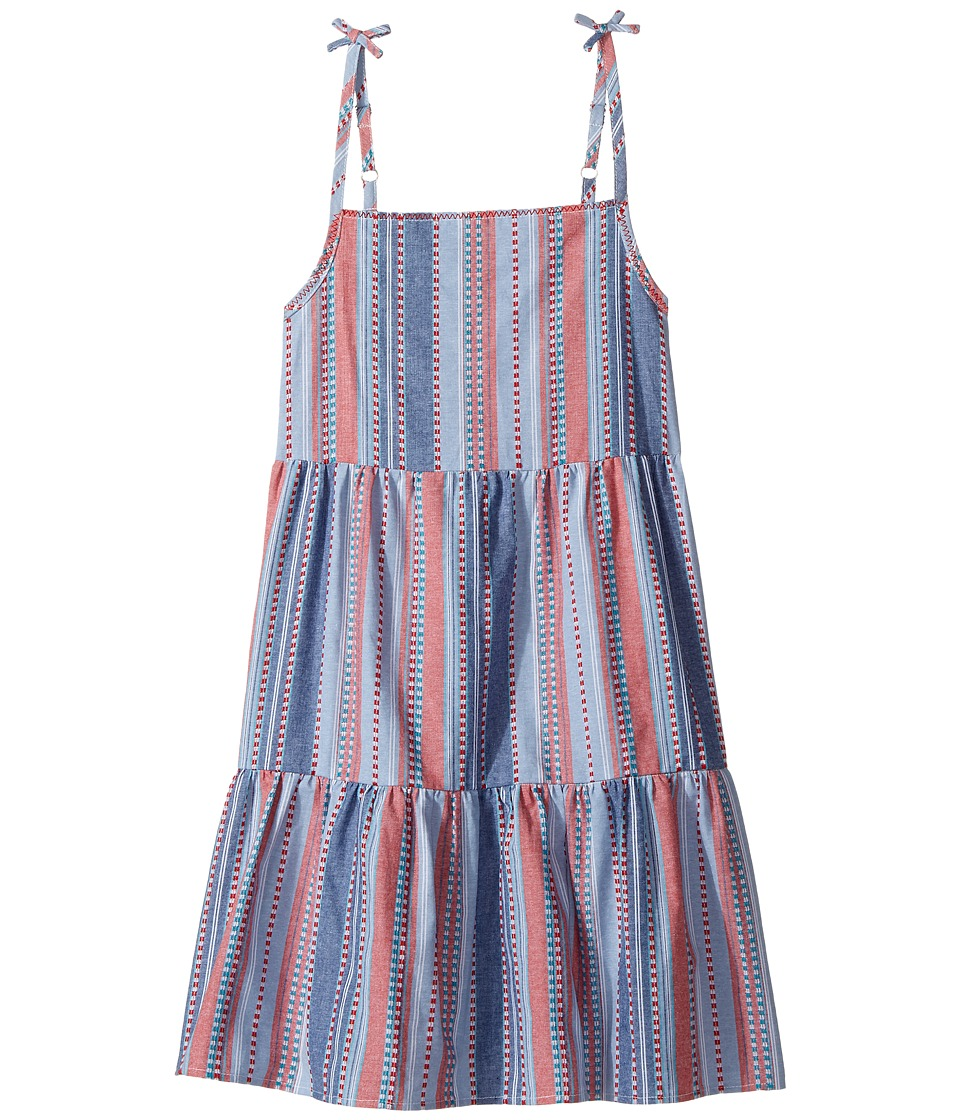 Lucky Brand Kids - Tiered Dress (Big Kids) (High Risk Red) Girl's Dress