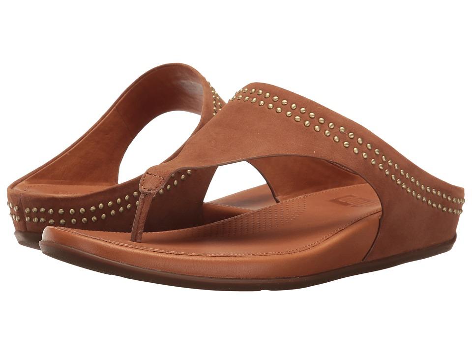 FitFlop - Banda Toepost w/ Studs (Tan) Women's Shoes