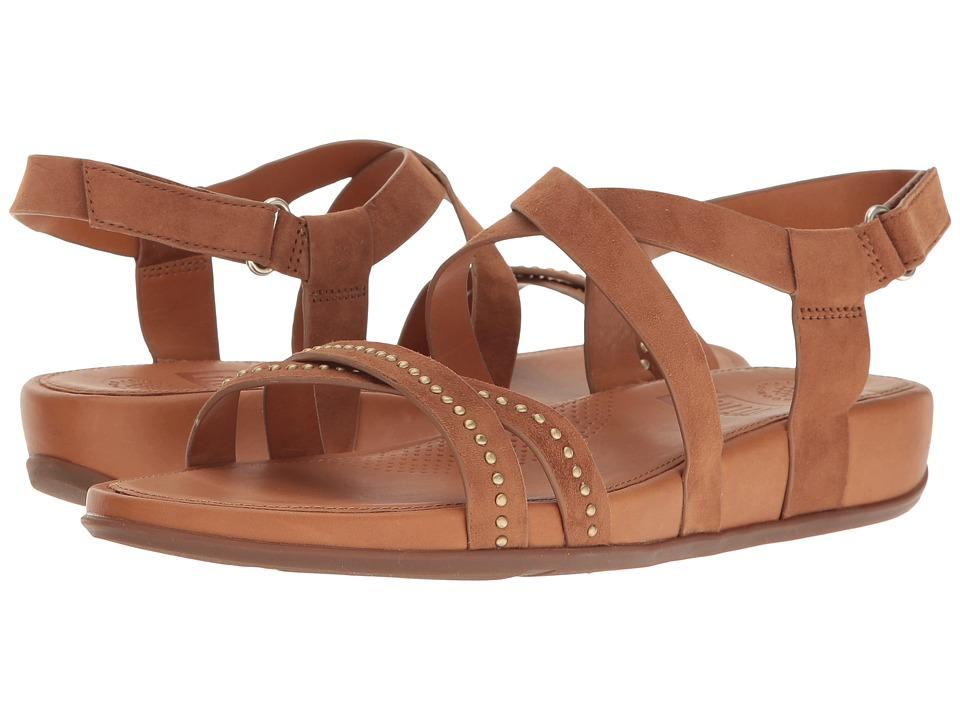 FitFlop Lumy Crisscross Sandals w/ Studs (Tan) Women