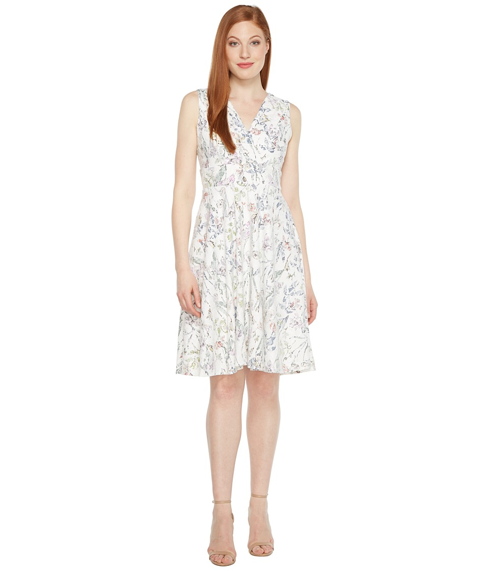 Sangria - Sleeveless Bonded Lace Fit and Flare Dress (Multi) Women's Dress