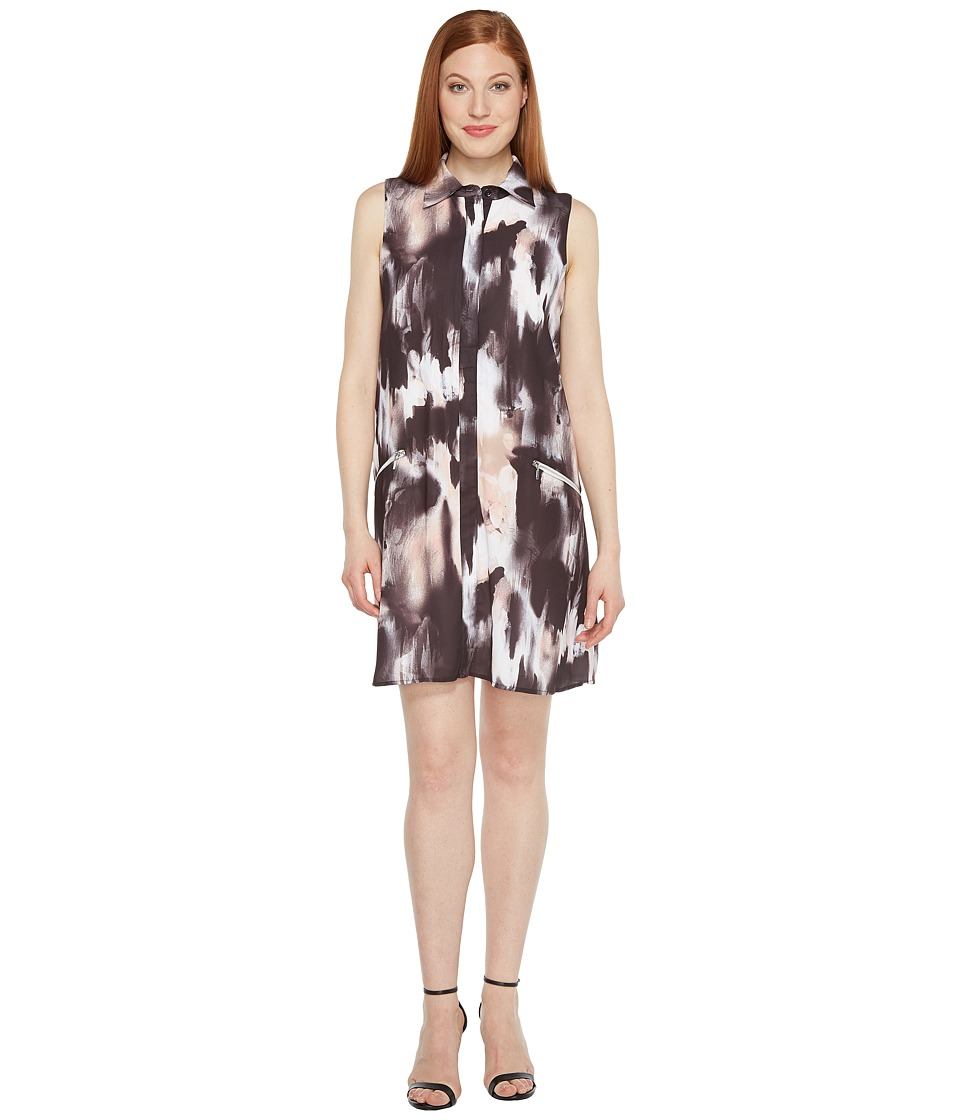 Sangria - Sleeveless Shirtdress with Collar (Multi) Women's Dress