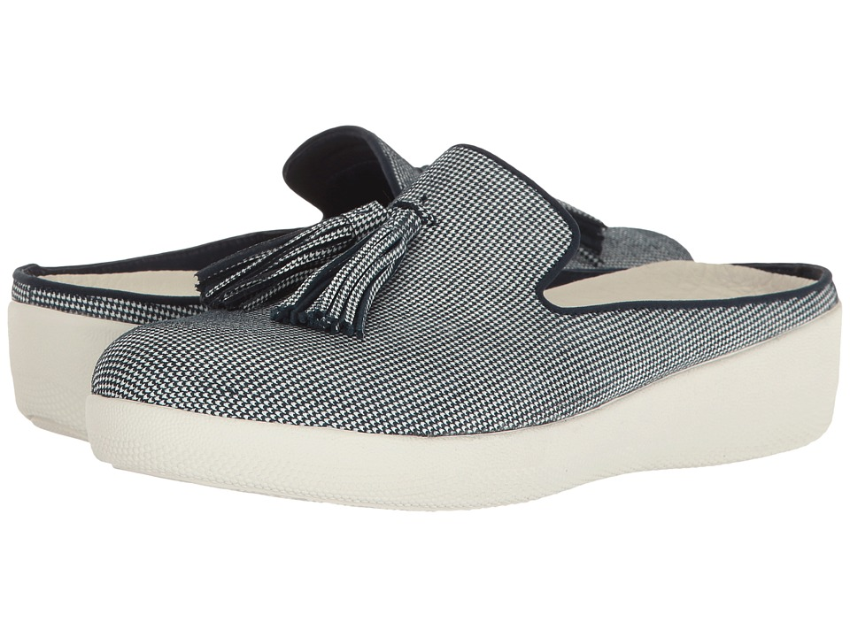 FitFlop - Houndstooth Print Superskate Slip-On (Midnight Navy) Women's Shoes
