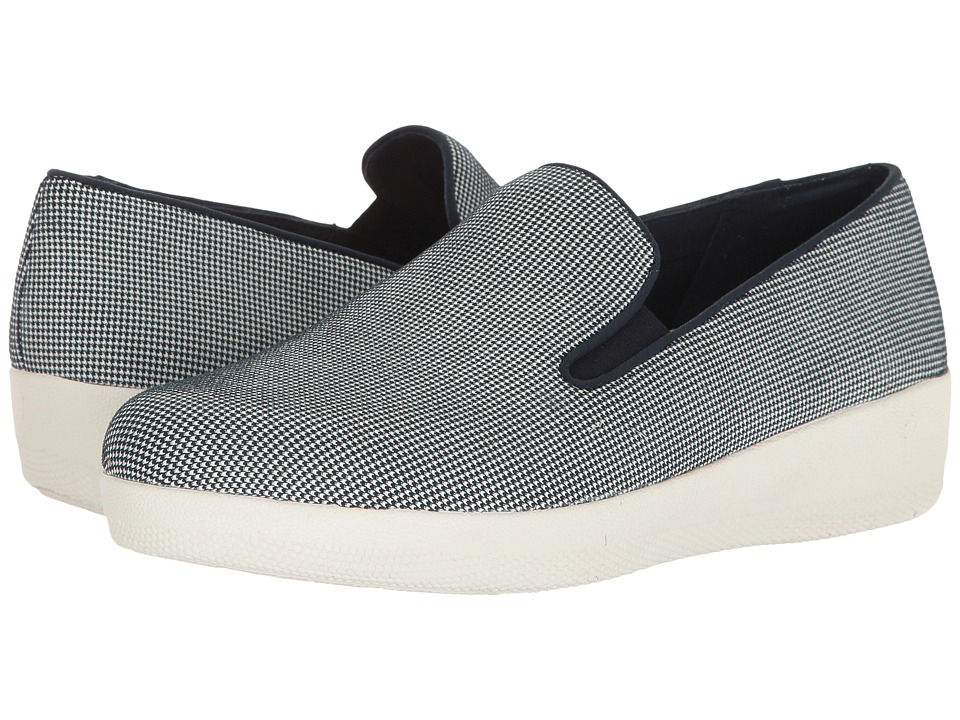 FitFlop - Houndstooth Print Superskate (Midnight Navy) Women's Shoes