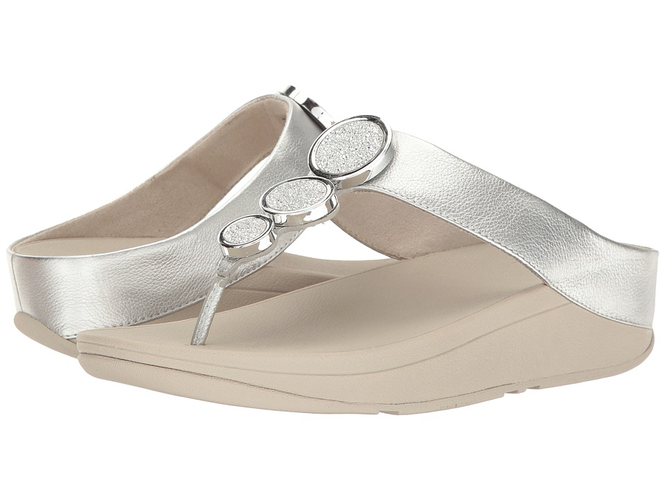 FitFlop Halo Toe Thong Sandals (Silver) Women