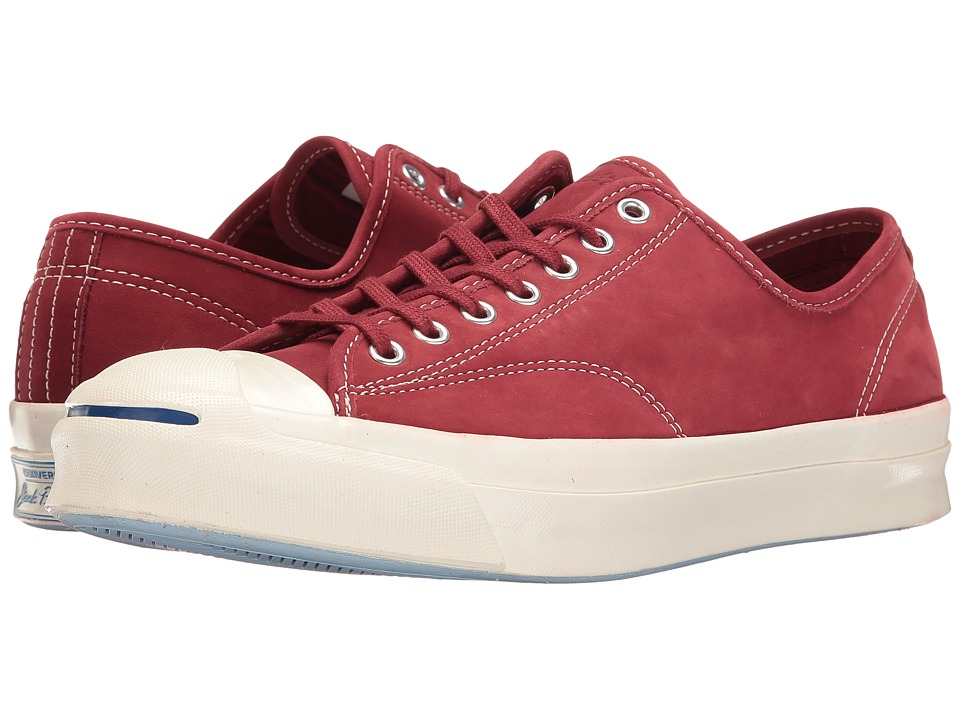 Converse - Jack Purcell Signature Ox (Red Block/Egret/Egret) Shoes