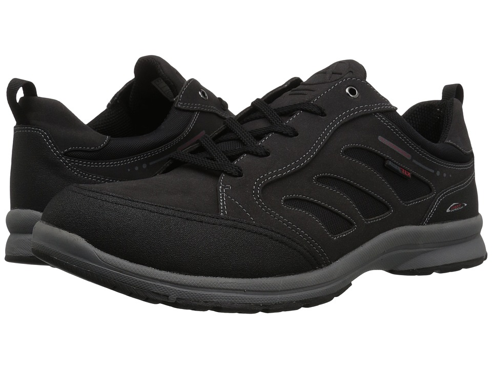 Image of Allrounder by Mephisto - Carbon Tex (Black Rubber/T Suede) Men's Lace up casual Shoes