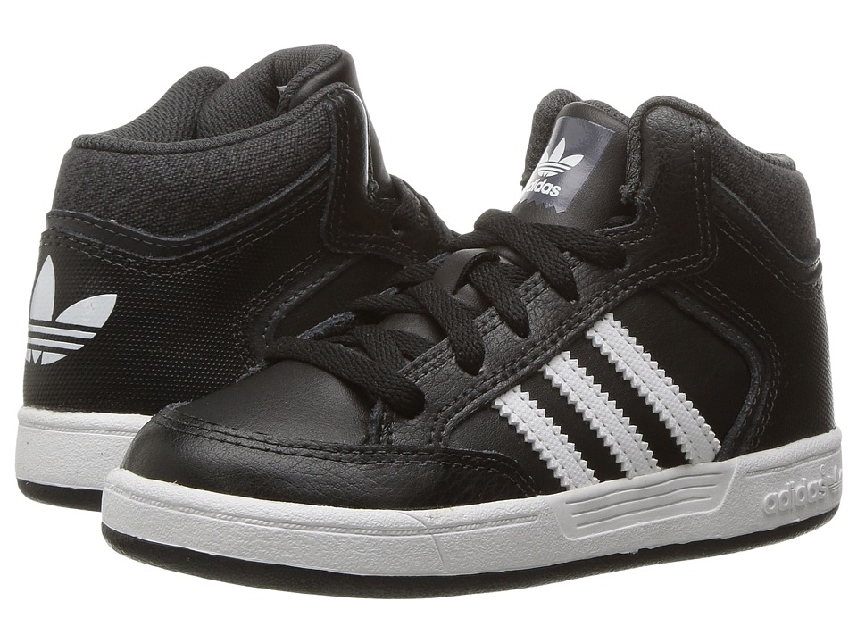 adidas Kids - Varial Mid (Infant/Toddler) (Black/White/Solid Grey) Kids Shoes