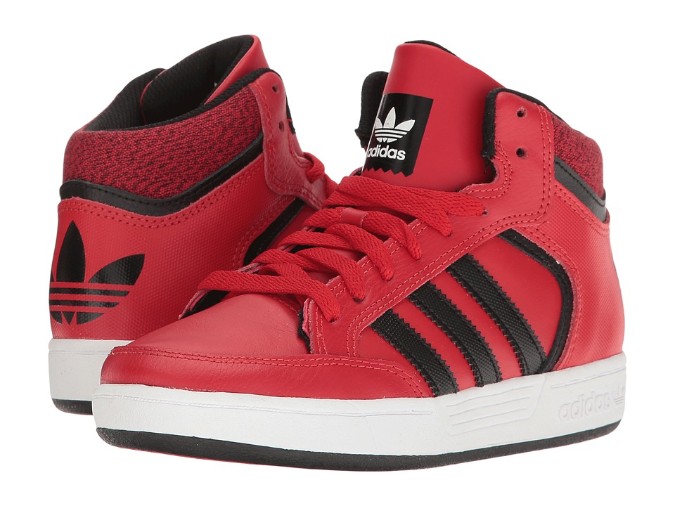 adidas Kids - Varial Mid (Little Kid/Big Kid) (Scarlet/Black/White) Kids Shoes