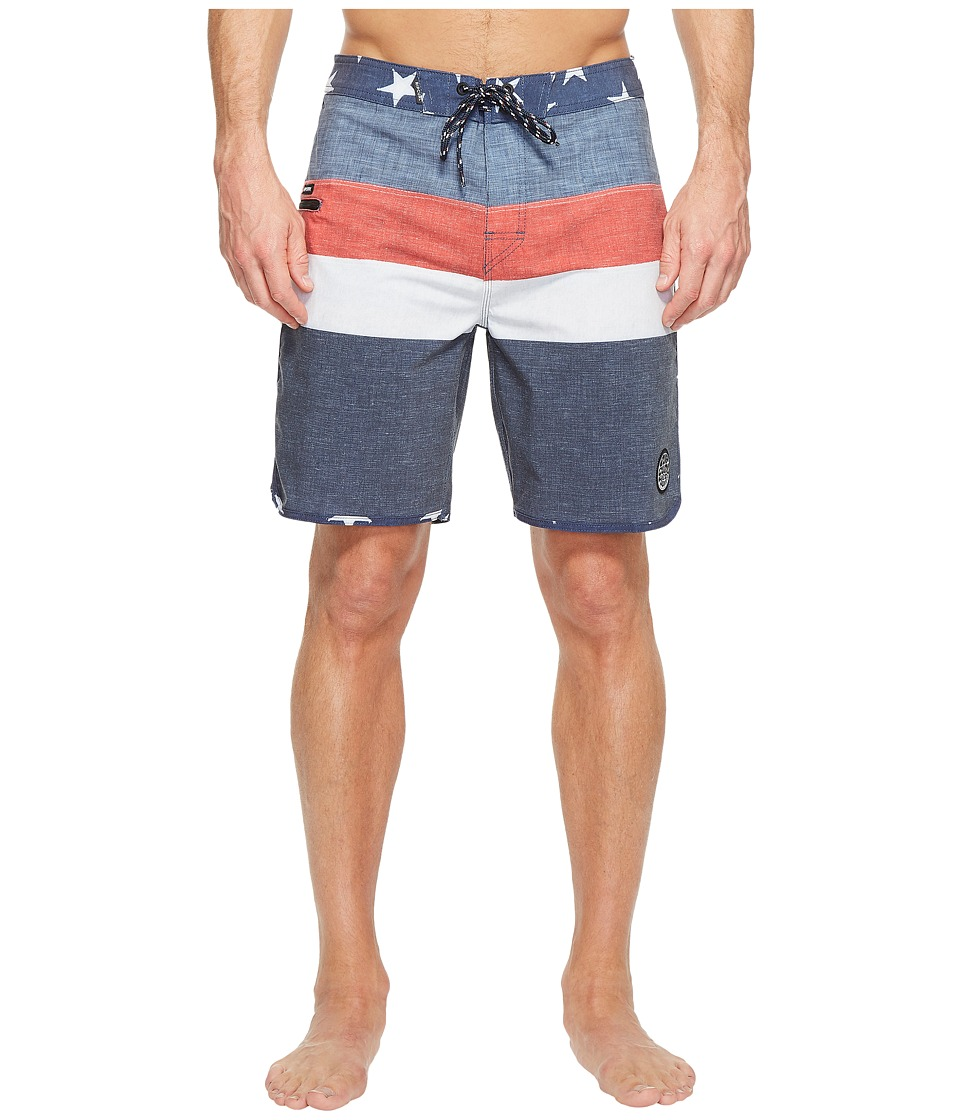 Rip Curl - Born In The Yeww.S.A. Boardshorts (Navy) Men's Swimwear