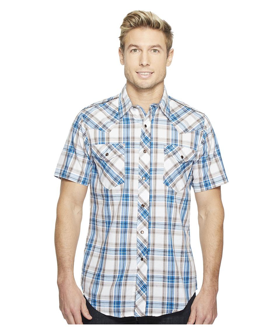 Roper - 0998 Woodland Plaid (Blue) Men's Clothing