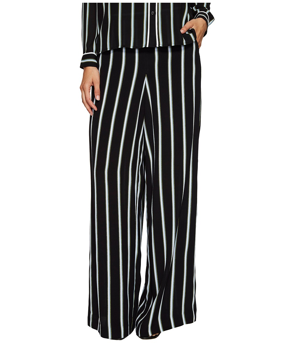 1.STATE - Wide Leg Pants (Rich Black) Women's Casual Pants