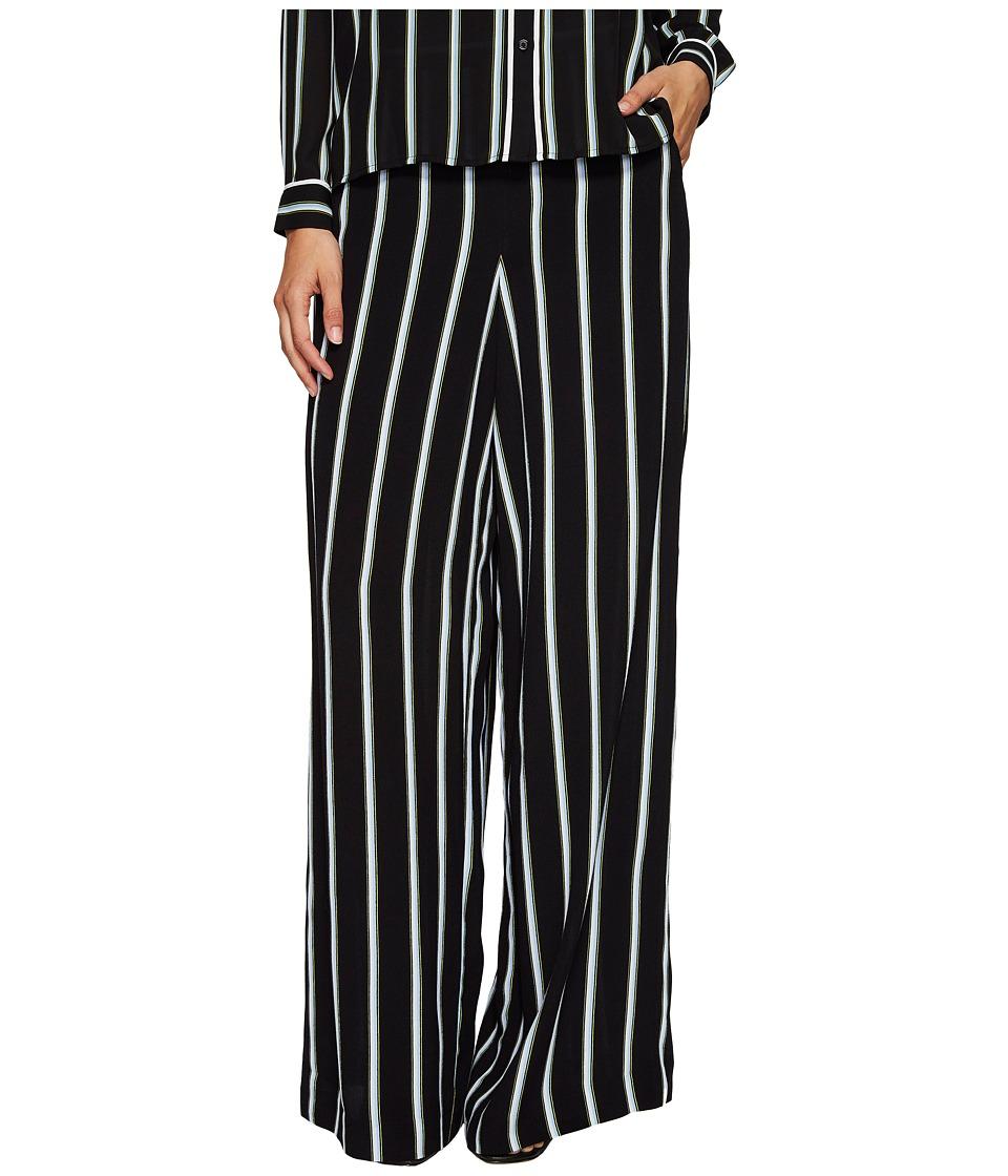 1.STATE - Wide Leg Pants (Rich Black) Women's Casual Pants