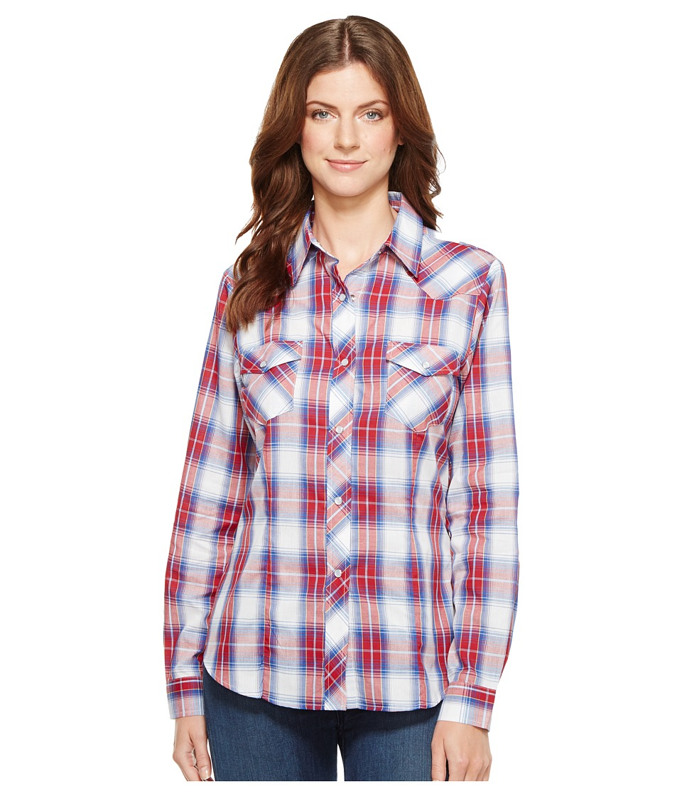Roper - 1028 Royal, Red and White Plaid (Red) Women's Clothing