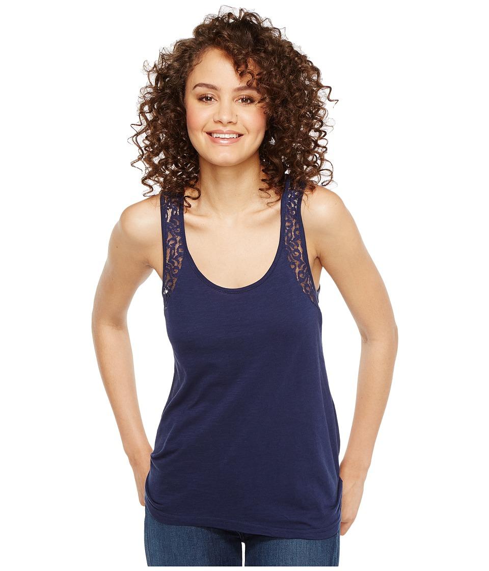 Roper - 1140 Cotton Jersey Hi-Lo Tank Top (Blue) Women's Sleeveless