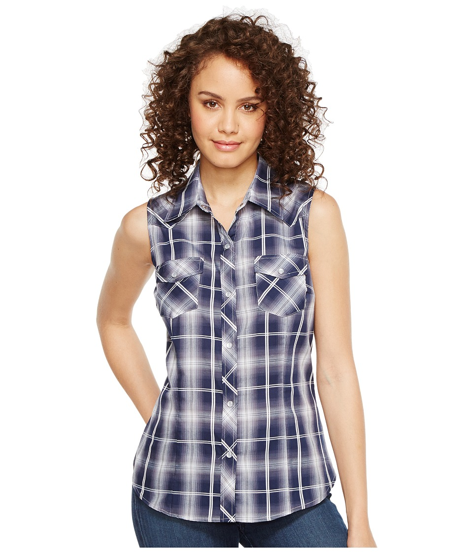 Roper - 1026 Navy and White Plaid (Blue) Women's Clothing