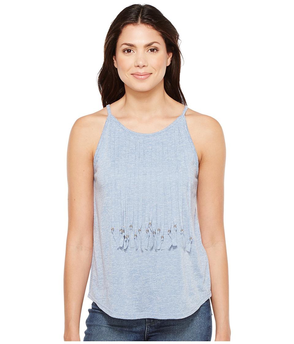 Roper - 1134 Poly Rayon Flowy Tank Top (Blue) Women's Sleeveless
