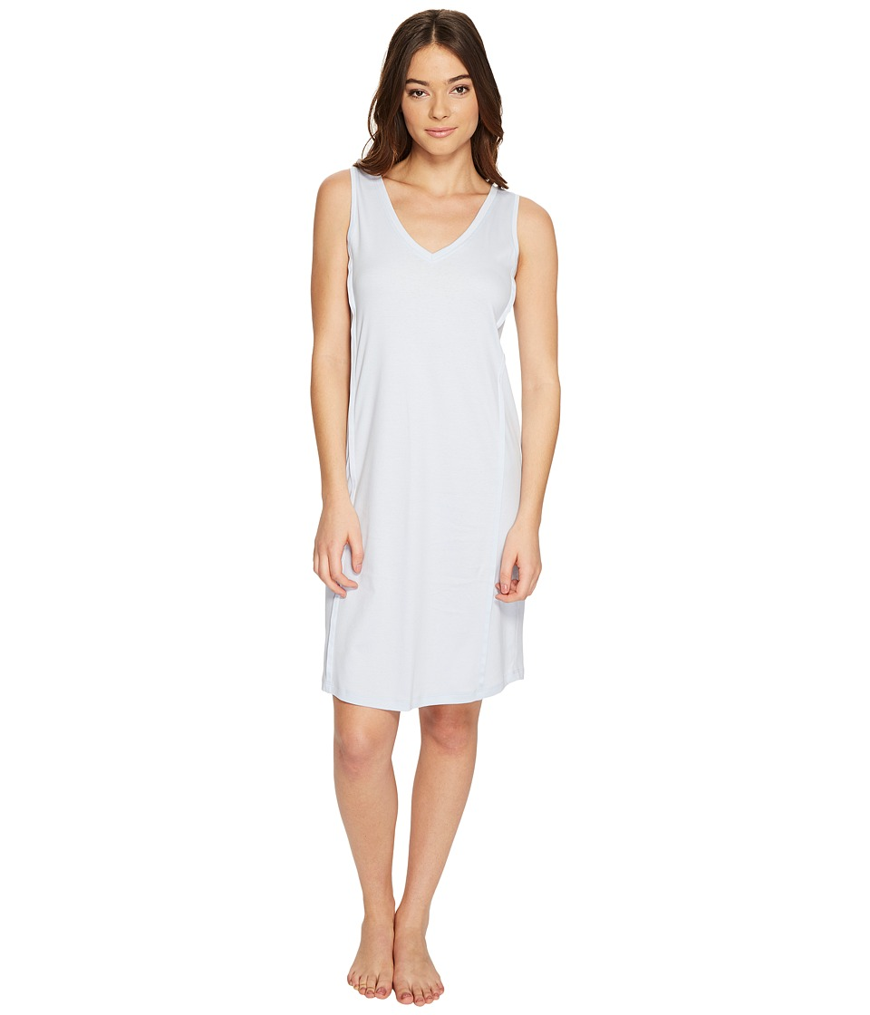 Hanro - Pure Essence Tank Gown (Blue Glow) Women's Pajama