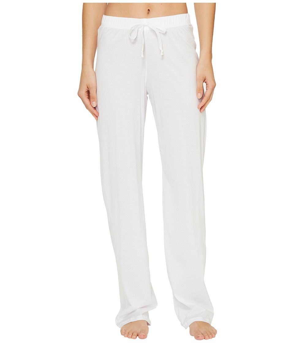 Hanro - Cotton Deluxe Drawstring Long Pants (White) Women's Pajama