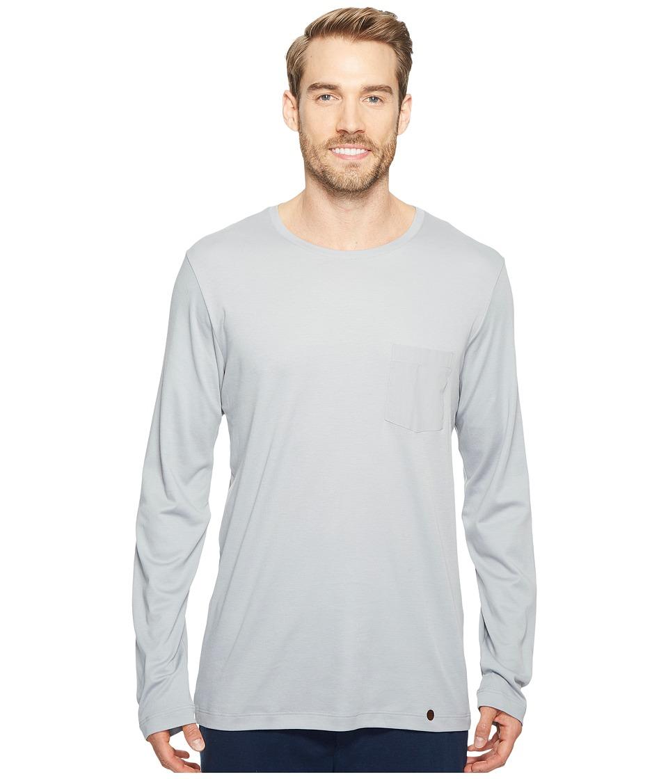 Hanro - Night and Day Long Sleeve Shirt (Mineral) Men's T Shirt