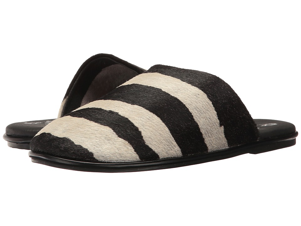 Warm Creature - Slipper (Black/White Zebra) Women's Sandals
