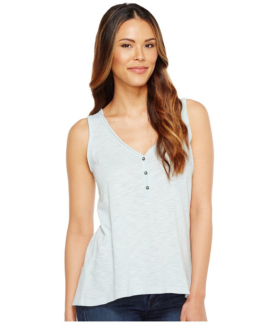 Alternative - Washed Slub Nouvelle V-Scoop Tank Top (Mist Blue) Women's Sleeveless