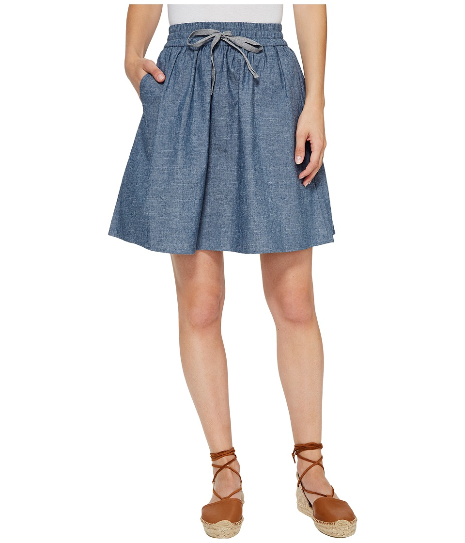 Alternative Chambray Skater Skirt (Chambray Blue) Women